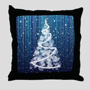 SPARKLING TREE Throw Pillow