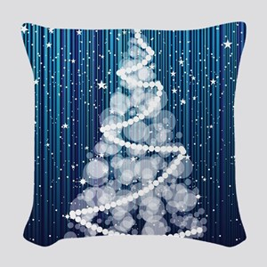 SPARKLING TREE Woven Throw Pillow