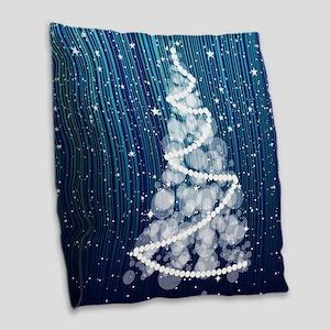 SPARKLING TREE Burlap Throw Pillow
