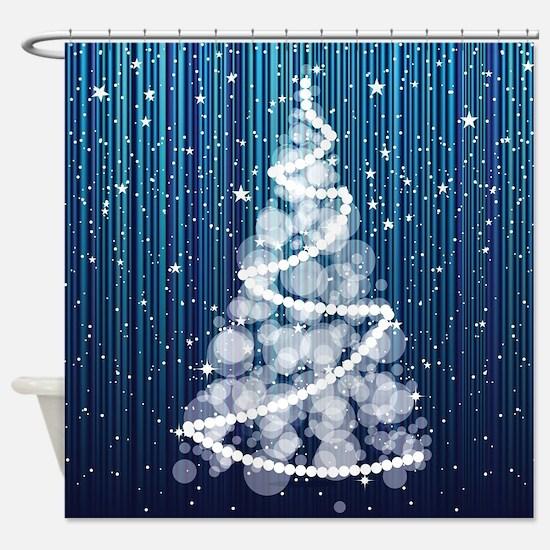 SPARKLING TREE Shower Curtain