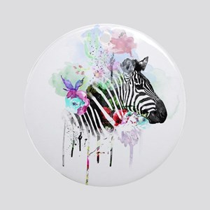 WATERCOLOR INK Round Ornament