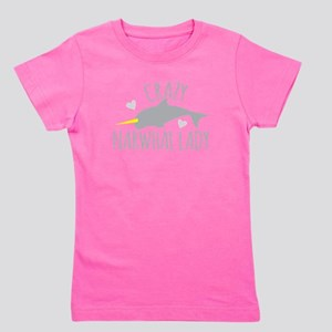 Crazy NARWHAL Lady Girl's Tee