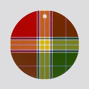 Gibson Scottish Tartan Round Ornament