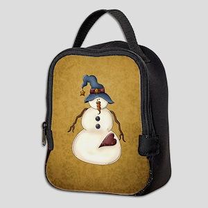 PRIM SNOWMAN Neoprene Lunch Bag