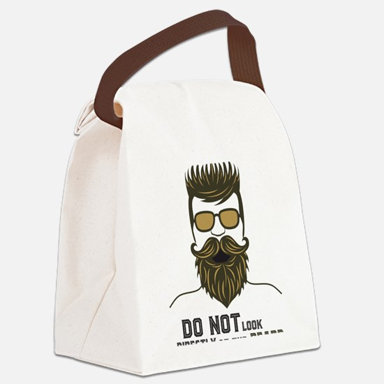 Cute Facial hair Canvas Lunch Bag