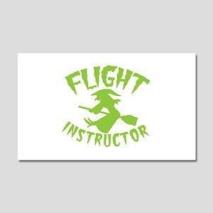 Flight instructor wickedy witch Car Magnet 20 x 12