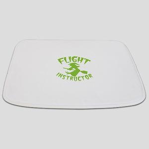 Flight instructor wickedy witch on a broom Bathmat