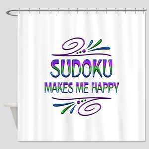 Sudoku Makes Me Happy Shower Curtain