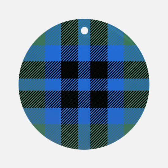 Keith Scottish Tartan Round Ornament