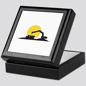 Construction Site Keepsake Box