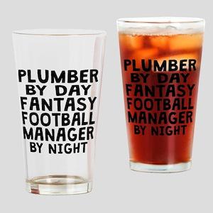 Plumber Fantasy Football Manager Drinking Glass
