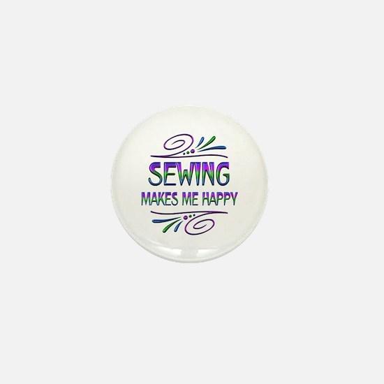 Sewing Makes Me Happy Mini Button