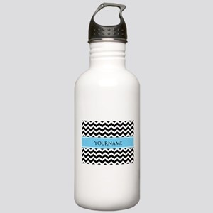Black White Chevron Bl Stainless Water Bottle 1.0L