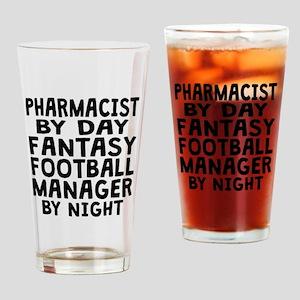 Pharmacist Fantasy Football Manager Drinking Glass