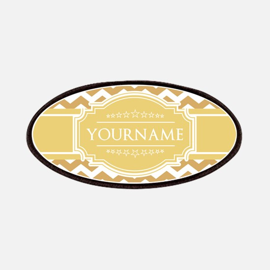 Butterscotch Gold Chevron Personalized Patch