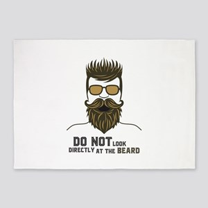 Do not look directly at the beard. 5'x7'Area Rug