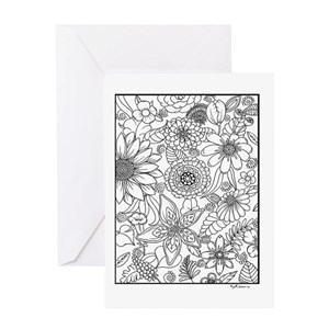 Adult Coloring Greeting Cards - CafePress