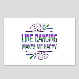 Line Dancing Makes Me Hap Postcards (Package of 8)
