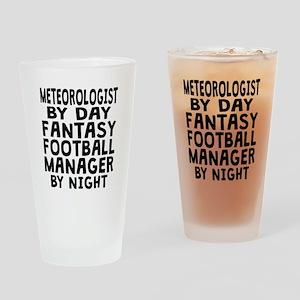 Meteorologist Fantasy Football Manager Drinking Gl