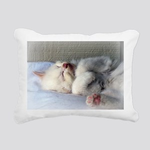 Sleepy Kitten Rectangular Canvas Pillow