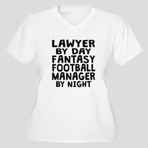 Lawyer Fantasy Football Manager Plus Size T-Shirt