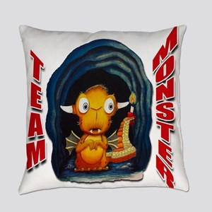 Leolus the Lone Dragon Red Text Everyday Pillow