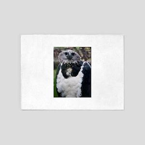 Harpy Eagle glaring 5'x7'Area Rug