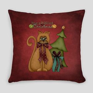 CHRISTMAS CRAZY QUILT Everyday Pillow