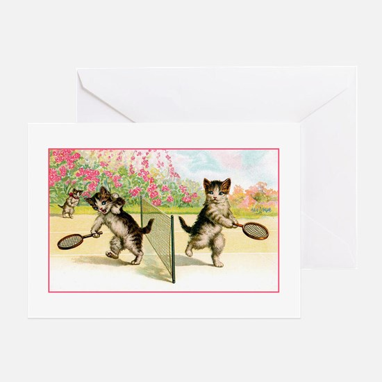 VINTAGE CAT ART Greeting Card