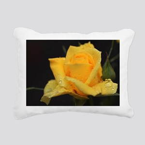 Yellow Roses Rectangular Canvas Pillow
