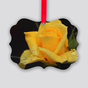 Yellow Roses Picture Ornament
