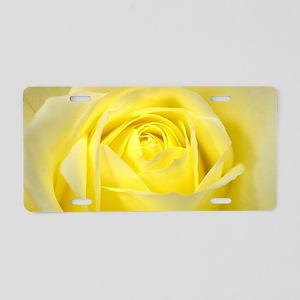 Yellow Roses Aluminum License Plate