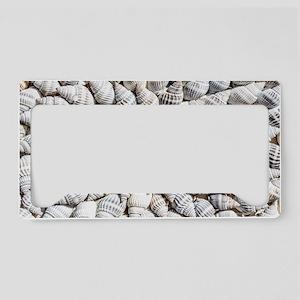 White seashells License Plate Holder