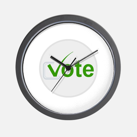Vote for Green! Wall Clock