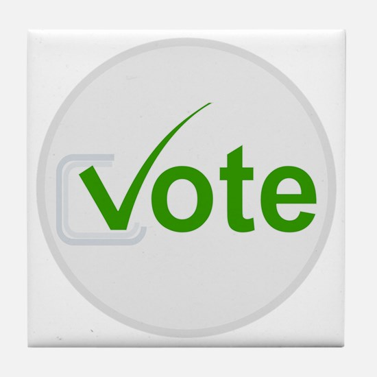 Vote for Green! Tile Coaster