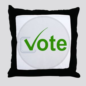 Vote for Green! Throw Pillow