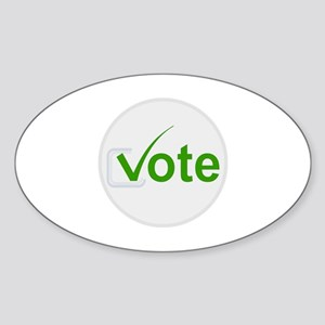 Vote for Green! Sticker (Oval)