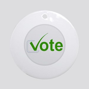 Vote for Green! Round Ornament