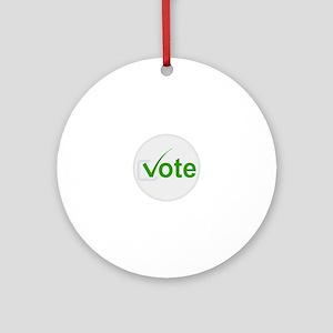 Vote for Green! Round Ornament