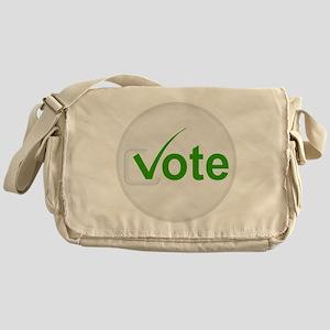 Vote for Green! Messenger Bag