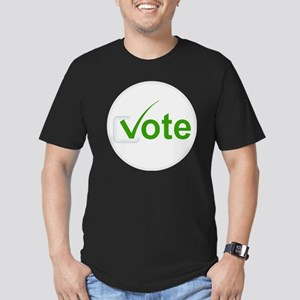 Vote for Green! Men's Fitted T-Shirt (dark)