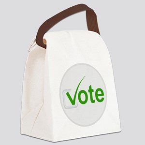 Vote for Green! Canvas Lunch Bag