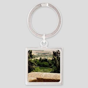 Tuscany Square Keychain