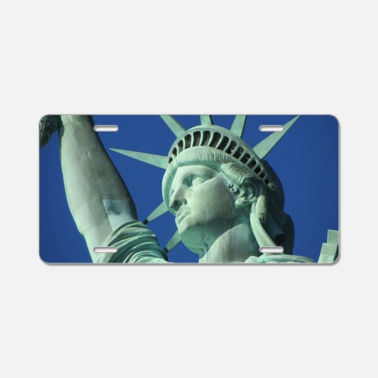 The Statue of Liberty Aluminum License Plate
