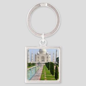 Taj Mahal Square Keychain