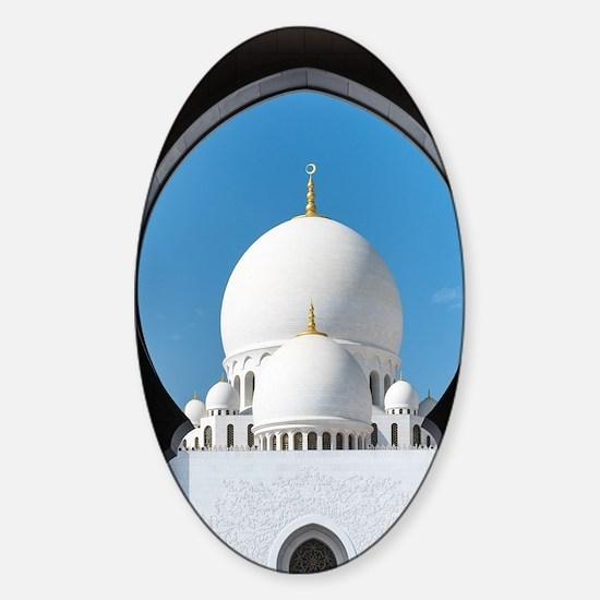 Sheikh Zayed Mosque Sticker (Oval)