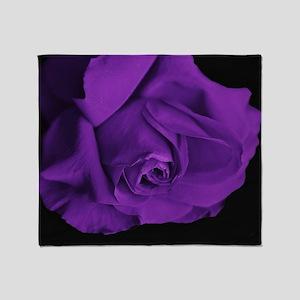 Purple Roses Throw Blanket