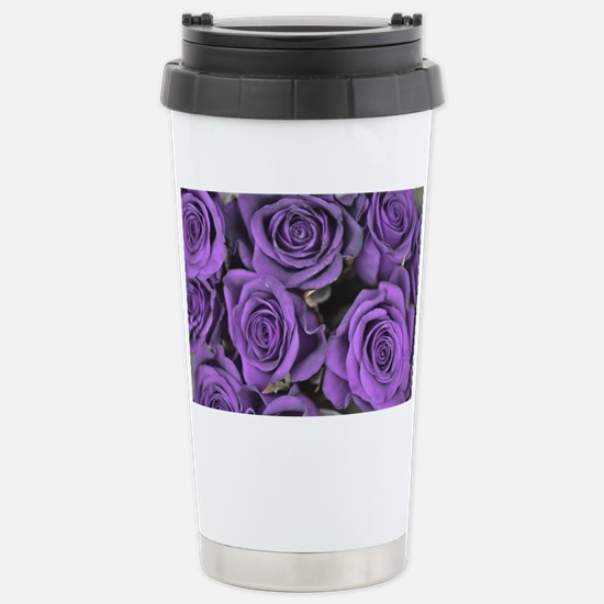 Purple Roses Stainless Steel Travel Mug