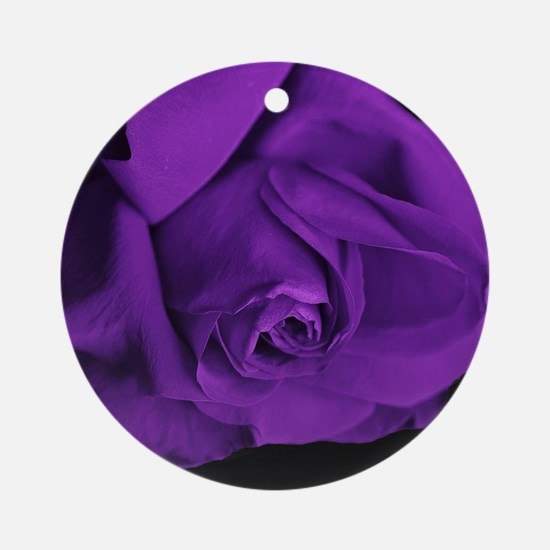 Purple Roses Round Ornament