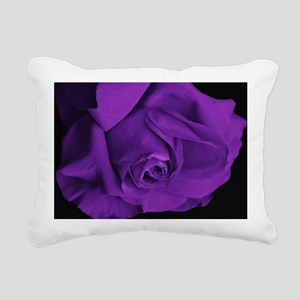 Purple Roses Rectangular Canvas Pillow